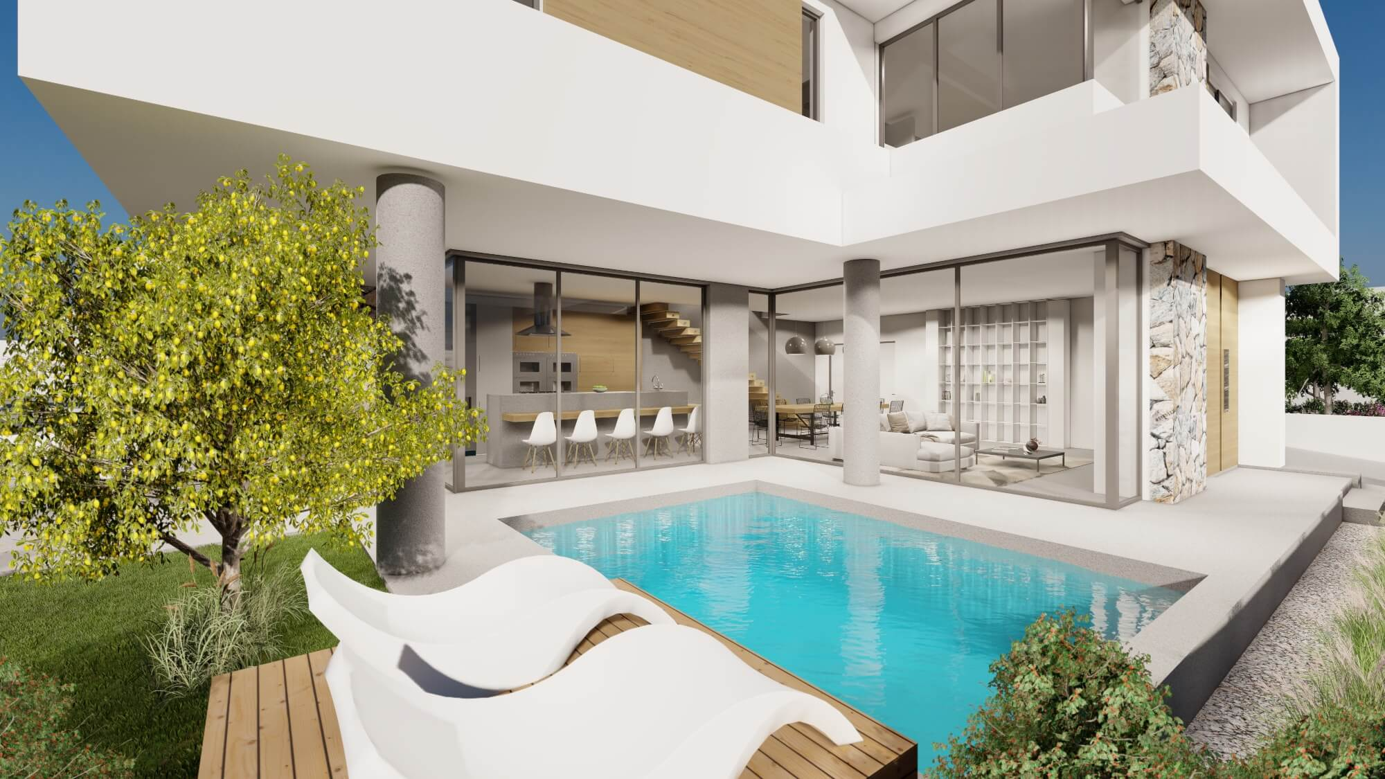 Private-residence-in-Ormidia-swimming-pool-architecture-visualization