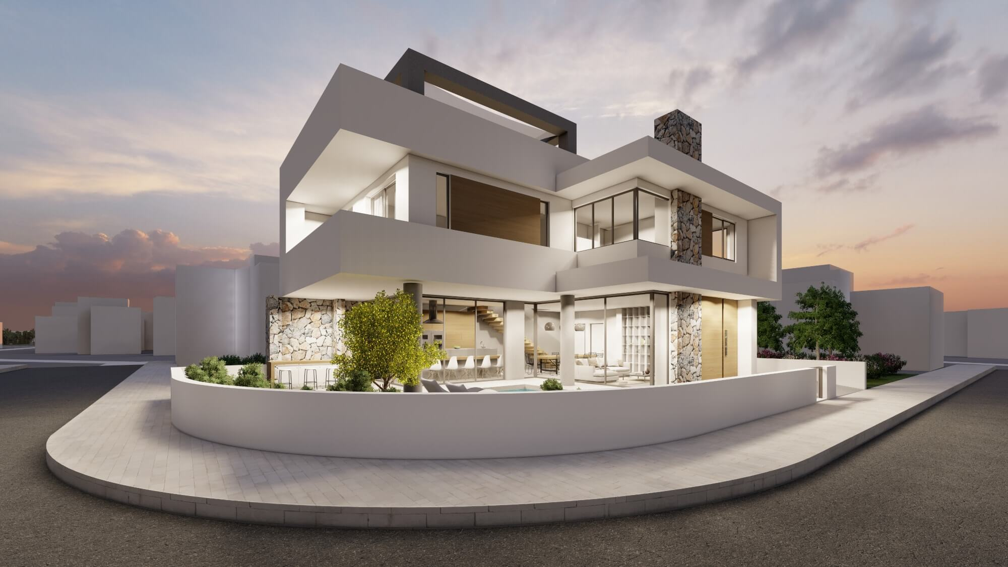 Architectural project- private residence in Ormidia