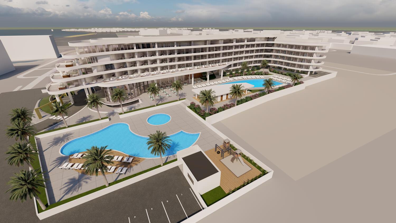 La Luna hotel from high angle