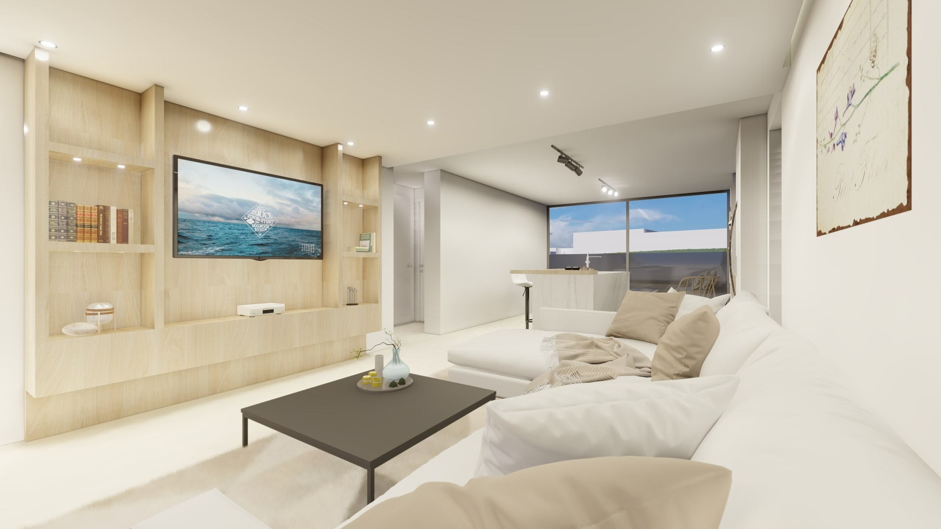 interior design of the luxury apartments in Limassol